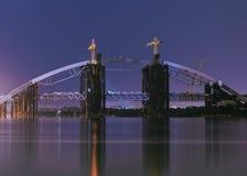 Unfertige Brücke Lizenzfreie Stockfotos