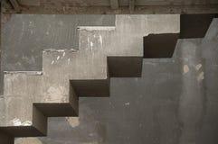 Unfertige konkrete Treppen Stockfoto