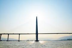 Unfertige Mündungs-Brücke Lizenzfreies Stockfoto