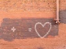 Unfertige Mitteilung auf einer Wand Lizenzfreie Stockbilder