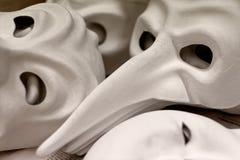 Unfertige traditionelle Venedig-Masken Lizenzfreie Stockfotografie