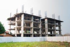 Unfertiger Bau des Gebäudes Stockbild