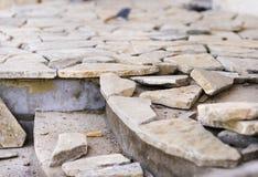 Unfertiger Steinboden Stockbilder