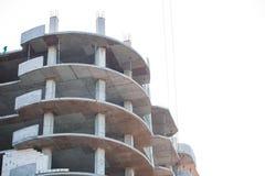 Unfertiges Europäisches Haus Des Ziegelsteines, Noch Im Bau Mein  Architekturprojekt Des Persönlichen Konzeptes Lizenzfreies Stockbild