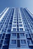 Unfertiges hohes Aufstiegsgebäude Stockbild
