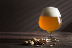 Unfiltered light beer Royalty Free Stock Images