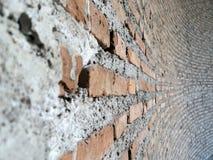 Unfinish ref brick wall Stock Photos