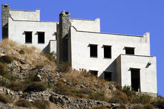 Unfinished. Two unfinished houses in Bodrum Turkey Royalty Free Stock Photo