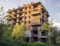 Unfinished abandoned high-rise house Stock Images
