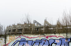 Unfinished and abandoned stadium. Royalty Free Stock Image