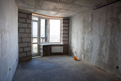 Unfinished apartment interior without furniture Royalty Free Stock Images