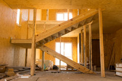Unfinished Architectural House Interior Design Stock Image