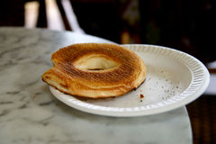 Unfinished bagel Royalty Free Stock Photography