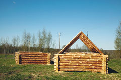 Unfinished blockhouses Stock Photography