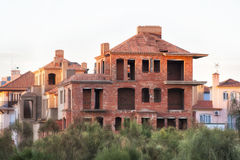 Unfinished brick building Royalty Free Stock Photography