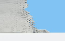 Unfinished brick wall Royalty Free Stock Image