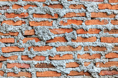 Unfinished Brick Wall, Close up Stock Image