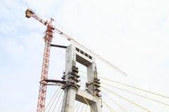 Unfinished bridge in Manado Stock Image