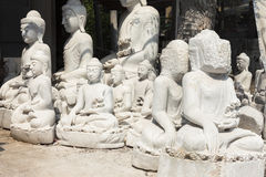 Unfinished Buddhas. Buddha fabrication, Myanmar, Southeast Asia royalty free stock photography