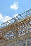 Unfinished building. Against the sky Royalty Free Stock Photography