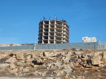 Unfinished building in Aktau. Stock Images
