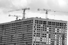 The unfinished building. Royalty Free Stock Photo
