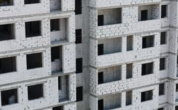 Unfinished building from bricks -  construction process Stock Photo