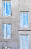 Unfinished building concrete wall Royalty Free Stock Image