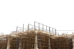 Unfinished building construction site Stock Image