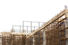Unfinished building construction site Royalty Free Stock Images