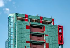 Unfinished building in disrepair. Panoramic view Royalty Free Stock Photo