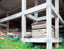Unfinished building. On the hill of temple stock photography