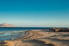 The unfinished building of the hotel on the shores of the Red Sea. In Sharm El Sheikh Stock Images