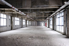 Unfinished building Interior. The office or emporium Royalty Free Stock Photography