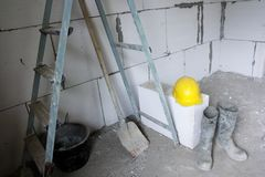 Unfinished building interior. Image of unfinished building interior Stock Photos