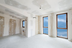 Unfinished building interior (includes clipping path). Unfinished building interior, white room (includes clipping path royalty free stock photography