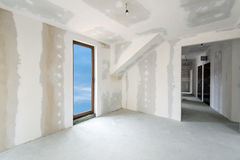Unfinished building interior (includes clipping path). Unfinished building interior, white room (includes clipping path stock image