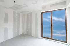 Unfinished building interior (includes clipping path) Royalty Free Stock Image