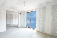 Unfinished building interior (includes clipping path). Unfinished building interior, white room (includes clipping path Royalty Free Stock Photos