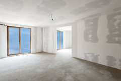 Unfinished building interior (includes clipping path). Unfinished building interior, white room (includes clipping path stock photos