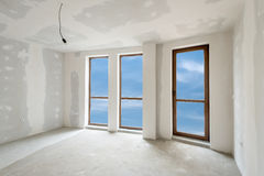 Unfinished building interior (includes clipping path) Stock Images