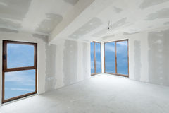 Unfinished building interior (includes clipping path). Unfinished building interior, white room (includes clipping path stock photography