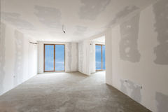 Unfinished building interior (includes clipping path). Unfinished building interior, white room (includes clipping path royalty free stock image