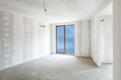 Unfinished building interior (includes clipping path). Unfinished building interior, white room (includes clipping path royalty free stock images