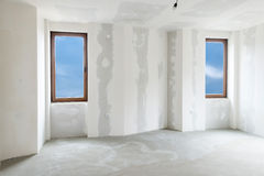 Unfinished building interior (includes clipping path) Royalty Free Stock Images