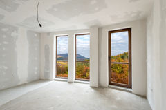 Unfinished building interior (includes clipping path) Stock Photo