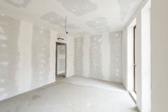 Unfinished building interior. White room Royalty Free Stock Photography
