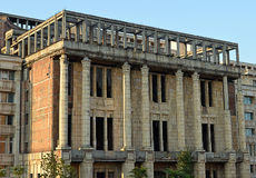 Unfinished building of the Romanian Academy, Bucharest, Romania. The headquarters of the Romanian Academy (Academia Romania) was a project championed by Elena stock images