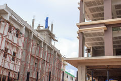 Unfinished building site. Construction background. Unfinished building site. Construction background Stock Photography