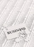 Unfinished Business. Puzzle on stock charts Royalty Free Stock Photo